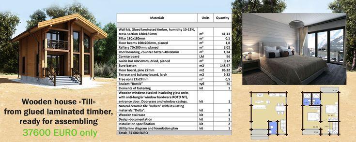 Holzhaus Till — 84 m² — Brettschichtholz — Preise auf Anfrage