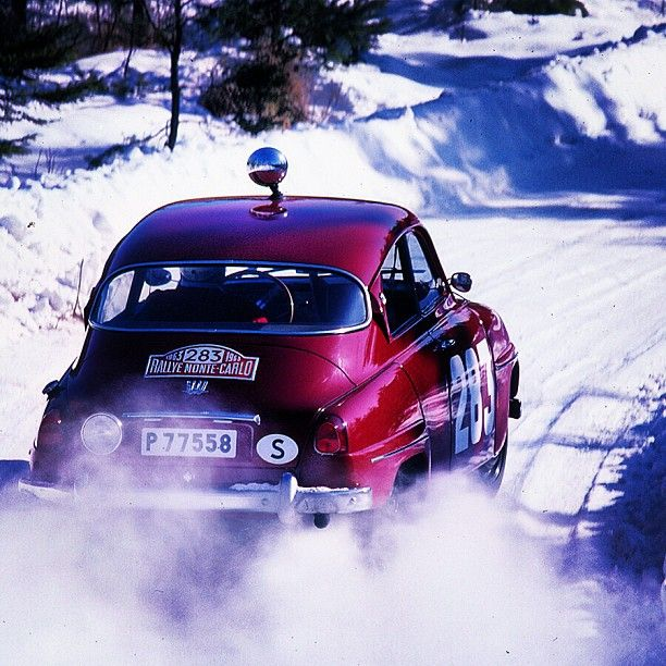 Any Saab rally fans out there? Here is your hero, Erik Carlsson hanging it…