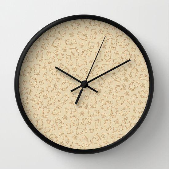Ditsy Goat Wall Clock