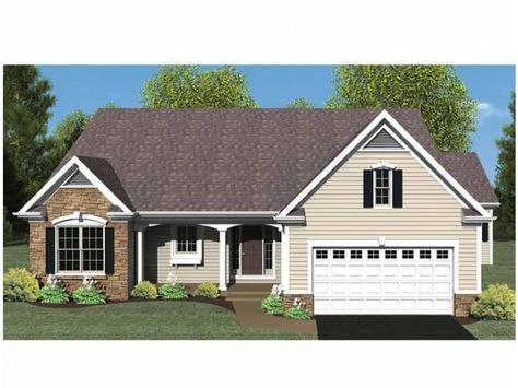 Eplans Ranch House Plan - Open Floor Plan - 1494 Square Feet and 3 Bedrooms from Eplans - House Plan Code HWEPL75216