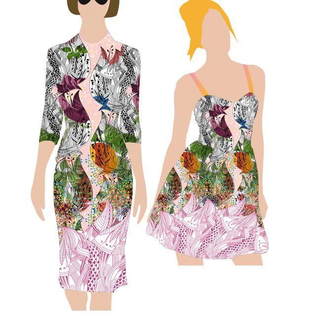 design de imprimeuri textile, textile design pattern