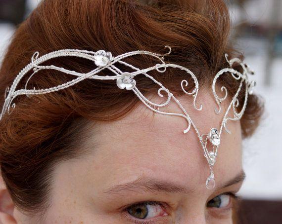 Tiaras . Elven tiara  elven circlet  Elvish by StoneSongBijouterie