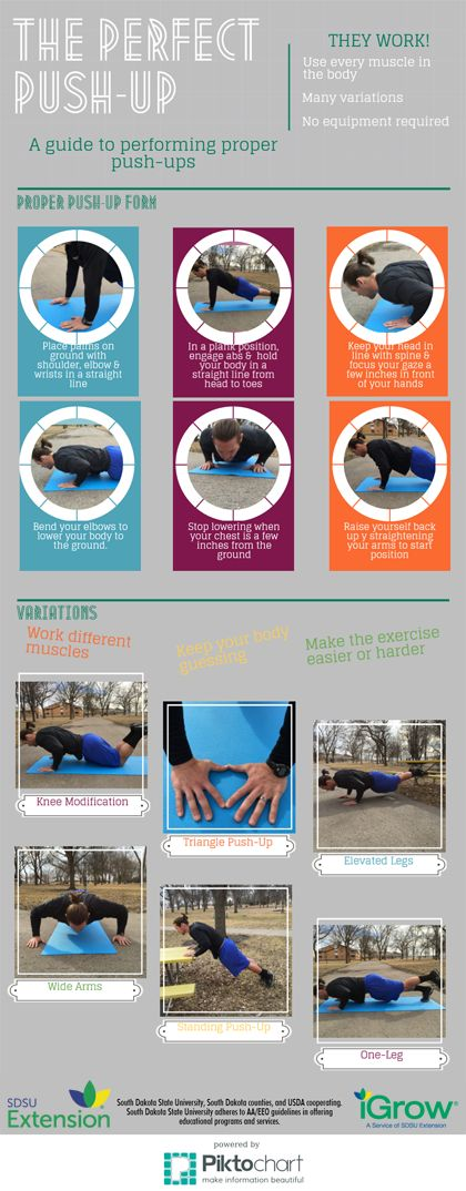 There are so many ways to do a push-up!