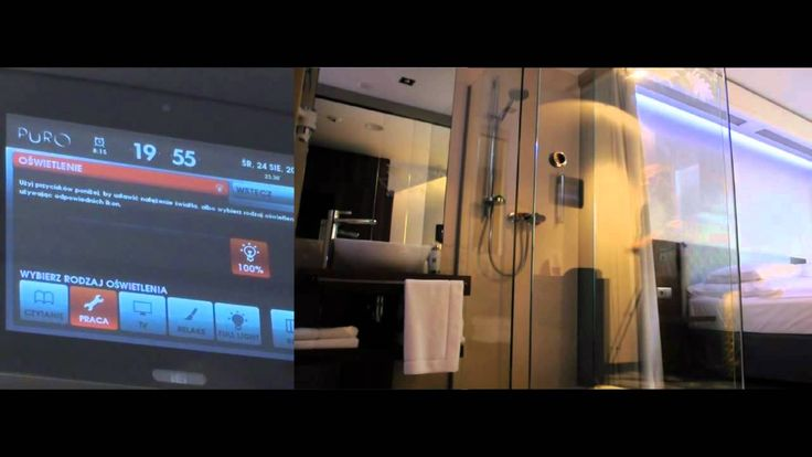 Interface for room control touchpanel in PURO Hotel