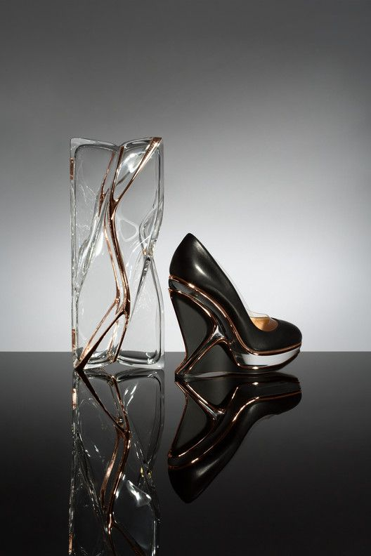 Zaha Hadid Design Creates Shoe and Transparent Clutch Bag for Charlotte Olympia