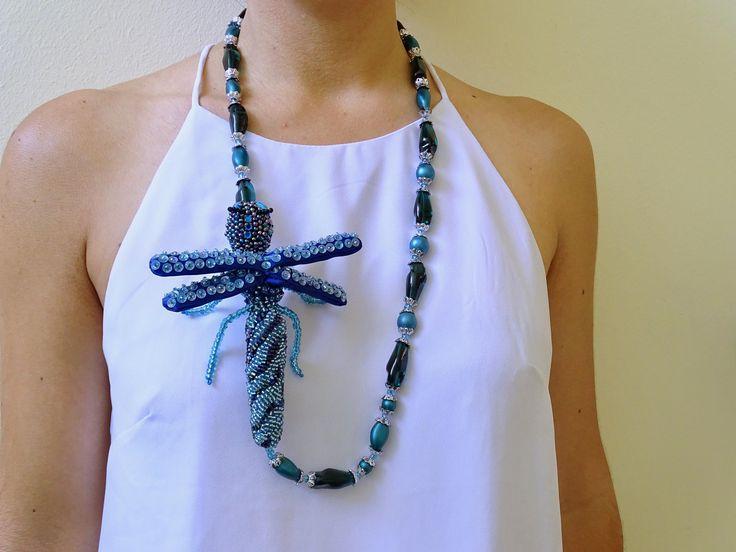 Collana Artigianale, Libellula - Necklace Handmade, Dragonfly di IririDesign su Etsy