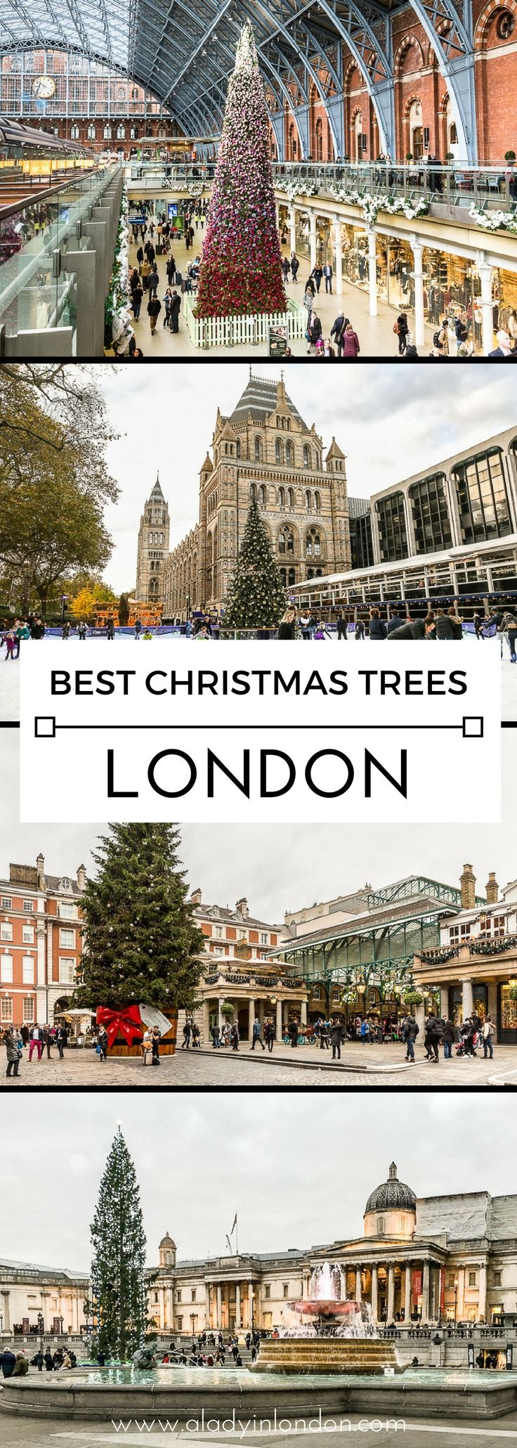 7 London Christmas trees you have to see, from giant spruces to fashionable creations. #london #christmas #ChristmasTree #londonchristmas