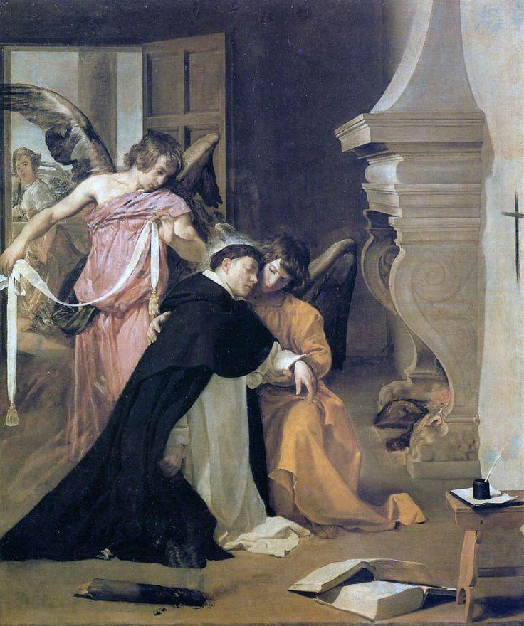 VELÁZQUEZ, La tentación de Santo Tomás de Aquino, 1631-32, Museo Diocesano de Arte Sacro de Orihuela