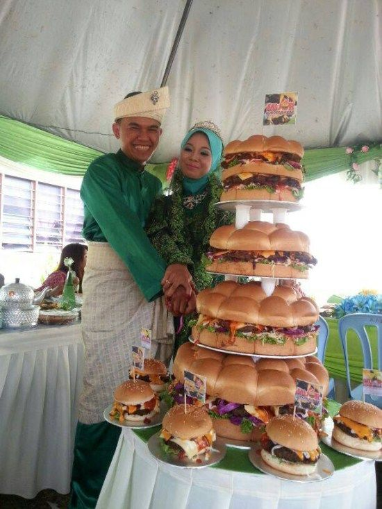 Burger Hochzeit Kuchen