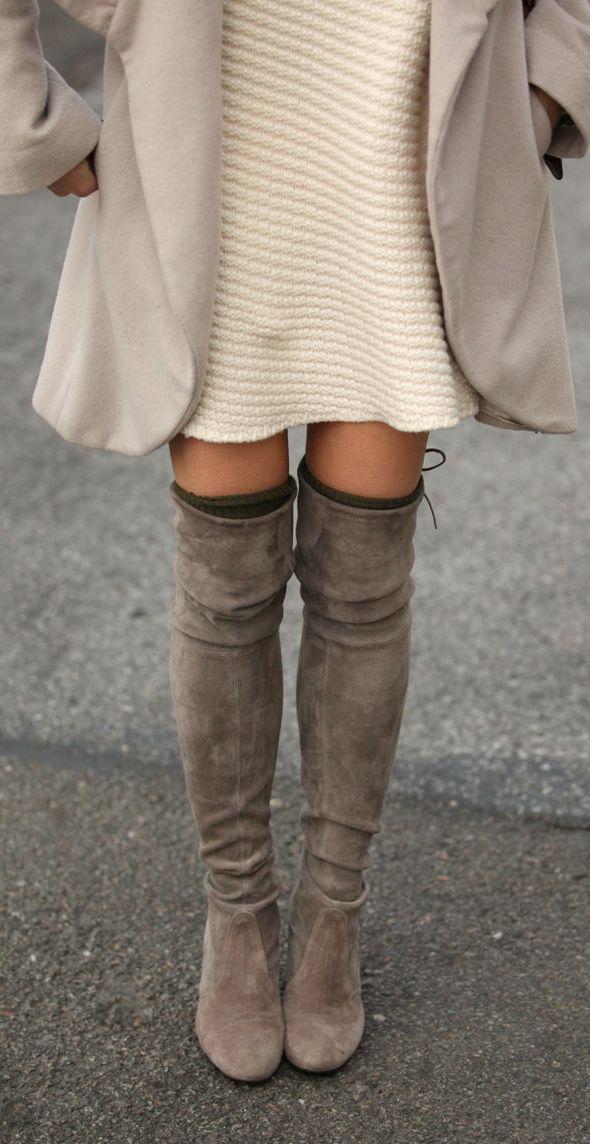Boots | Knit Dress | Winter Wear  @MichaelaNichelle