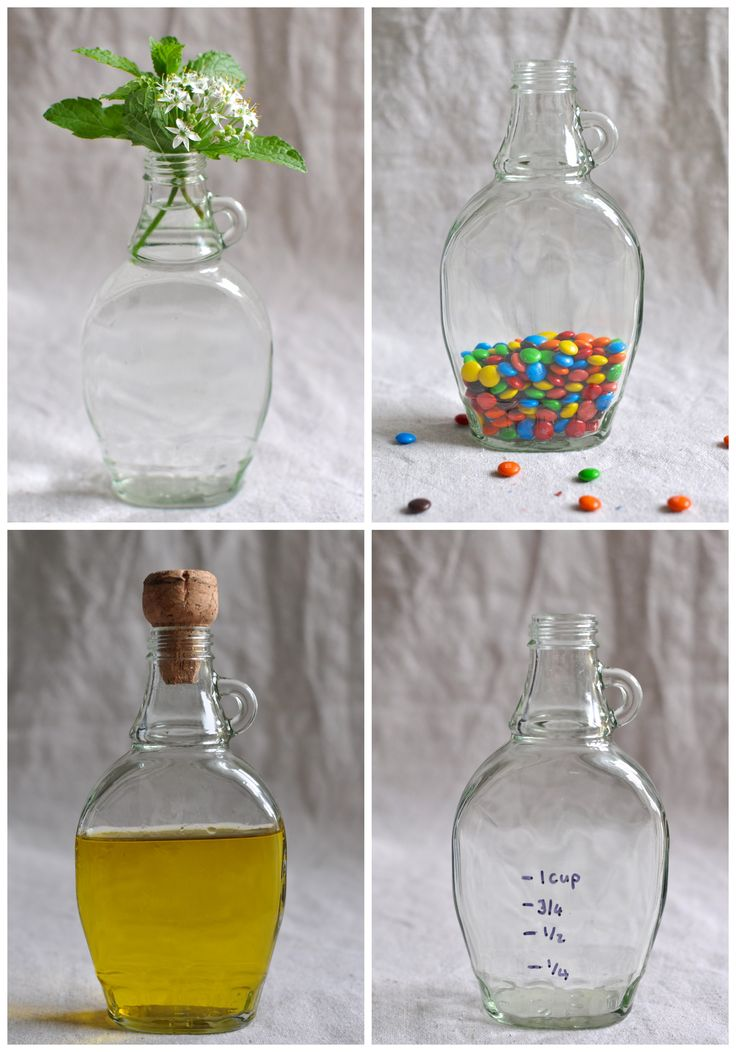 Lolly jar made from Maple syrup bottles