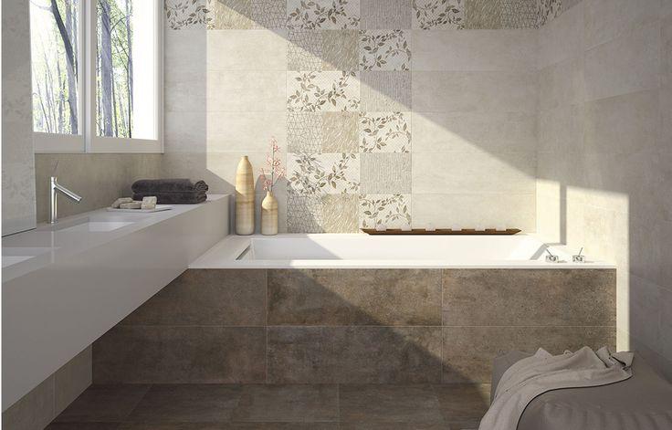 Pavimento disponible en dos tonos diferentes de dimensiones 44,7 x 44,7 con posibilidad de diferentes revestimientos tanto en tono como el formas.
