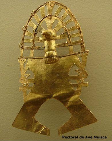 Pectoral de Ave Gold Muisca culture Colombia