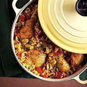 Chicken with Saffron Rice Recipe williams-sonoma.com
