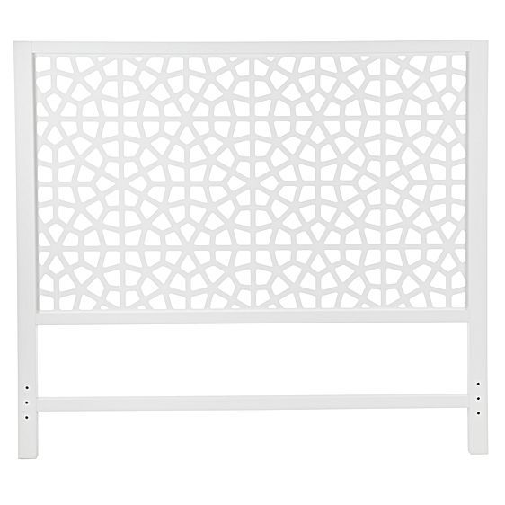 the marrakesh white queen headboard from zanui imparts an exotic atmosphere into your bedroom u2013 its - White Queen Headboard