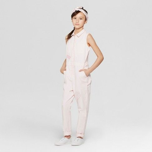 9991df8ac978 Girls  Sleeveless Jumpsuit with Hammer Loop - art class™ Pink   Target