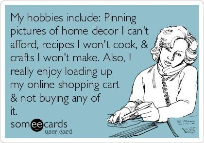 My hobbies include...yes, this is true at the moment.