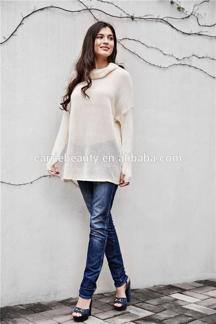 Christmas Roll-Neck Long Sleeve Loose Fit Casual Girls Woman Knitted Woolen Sweater Designs Top Pullover