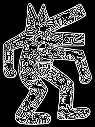 Dog, 1985 by Keith Haring - art print from Easyart.com