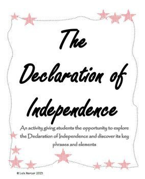 The Declaration of Independence Activity