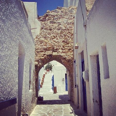 perfect place to be all year! castle, antiparos island, greece