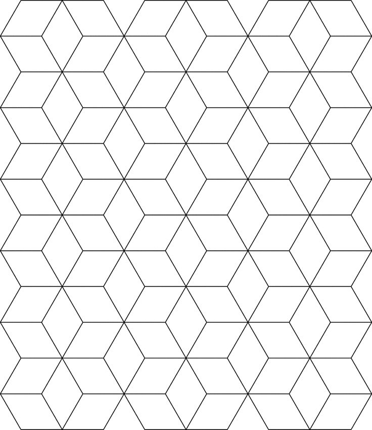 Free Tessellation Patterns to Print | Block Tessellation | ClipArt ETC