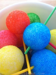 How to color styrofoam balls.