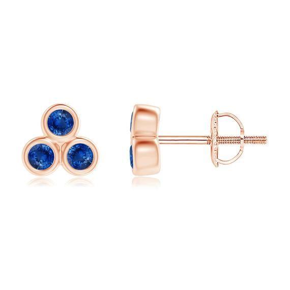 Bar earrings with stone Blue sapphire earrings gold Gold aquamarine earrings Blue ombre earrings