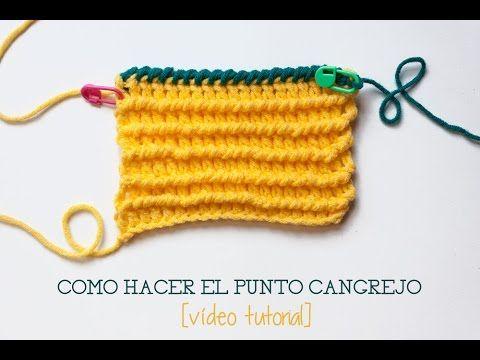Cómo hacer el punto cangrejo en ganchillo | Crochet crab stitch - YouTube