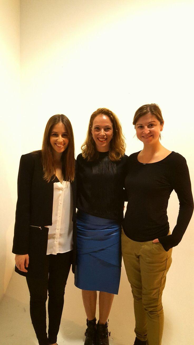 With the amazing Cassie Longworth (Market Editor) and Art Director Lauren Dragosetti.