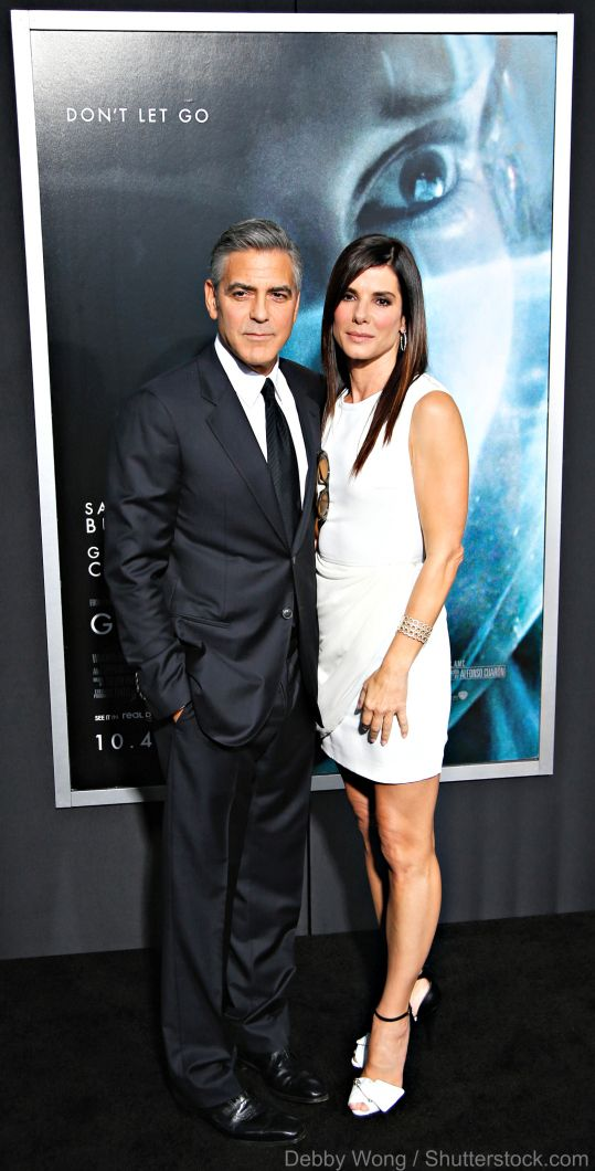 Gravity Movie Review Sandra Bullock and George Clooney