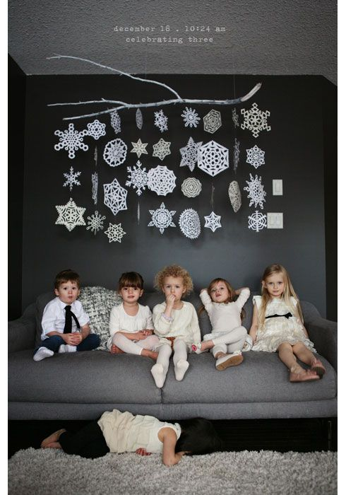"""Alternatives to a Christmas tree! Great ideas!! """"Ideas to satisfy tight budgets, small spaces and minimalist sensibilities."""""""