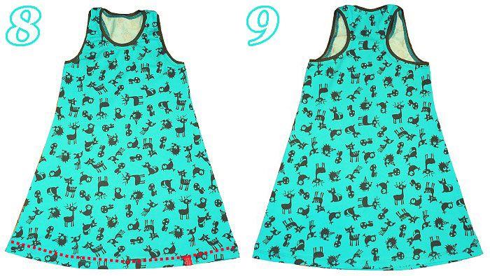 Shirtkleid selber nähen - perfekt für Nähanfänger inkl. Schnittmuster und Stoff.