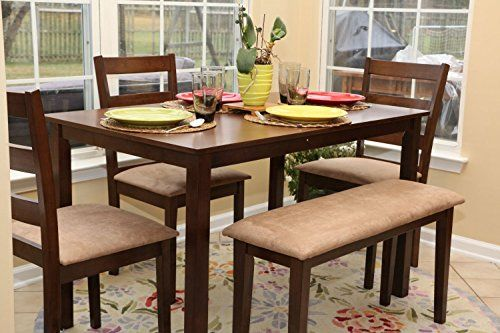 5pc Dining Dinette Table Chairs & Bench Set New Walnut Finish 150237b Home Life http://www.amazon.com/dp/B010WLSVSO/ref=cm_sw_r_pi_dp_otE-vb0ZT9NMR
