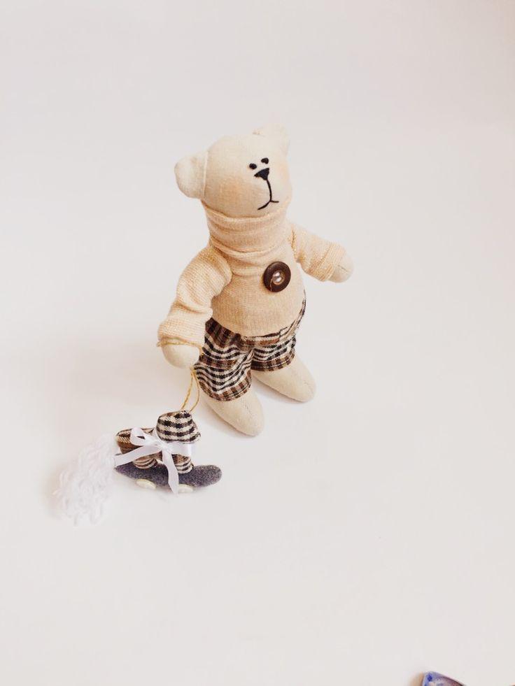 Teddy bear tilda handmade ручная работа Мишка тильда тедди Мишка с лошадкой оригинальный подарок на День Святого Валентина gift  Valentine's Day