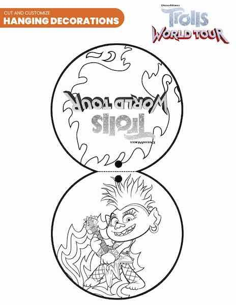 42 Free Printable Trolls World Tour Party Pack In Pdf In 2020 Coloring Pages Party Packs Trolls Birthday Party