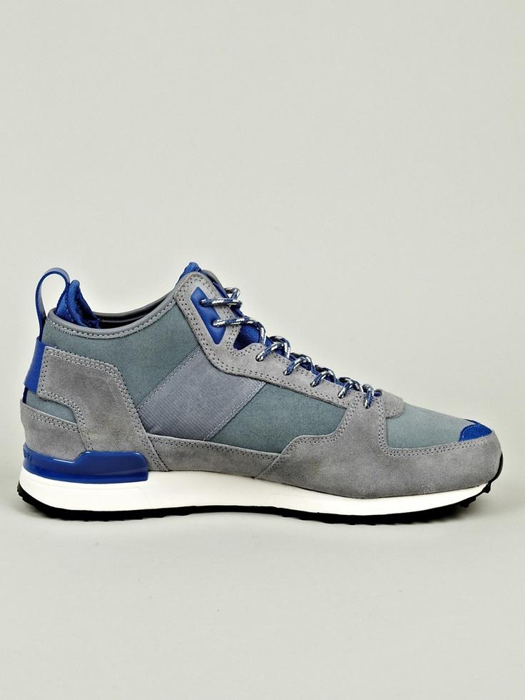 Adidas Originals x RANSOM Men's Military Trail Runner Sneaker in blue / grey at oki-ni