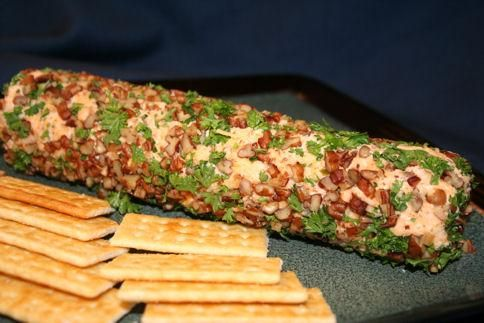 Spicy Monterey Jack Cheese Logs  I used cilantro in place of parley.