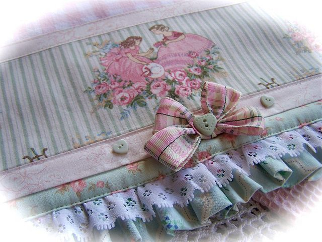 Shabby Chic Kitchen Towel. By Created By Cath., Via Flickr Www.createdbycath