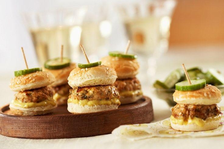 Mini Burgers für Party zubereiten