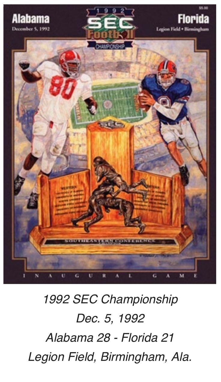 Historic Alabama Game Programs from RollBamaRoll.com / 1st SEC Championship Game - Alabama vs Florida  #Alabama #RollTide #Bama #BuiltByBama #RTR #CrimsonTide #RammerJammer