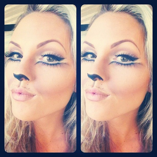 Pretty cat makeup for Halloween