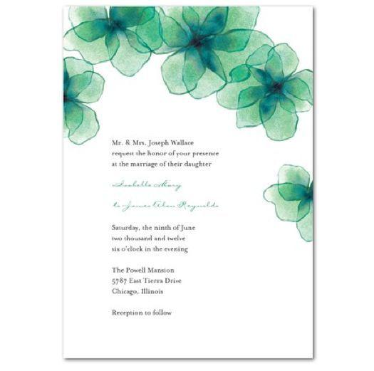 Invitaciones de boda en color verde esmeralda [Fotos]