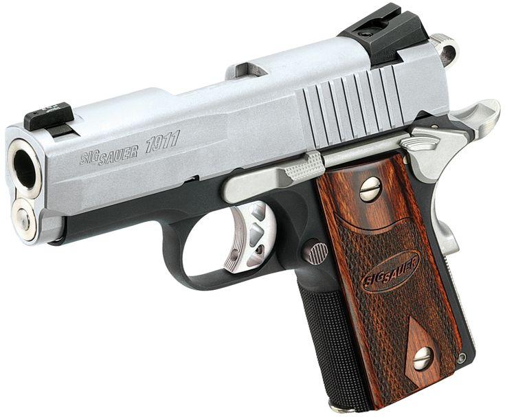 "Sig Sauer 1911U45TSS 1911 Ultra Compact 45 ACP 3.3"" 8+1  The gun my hubby wants!"