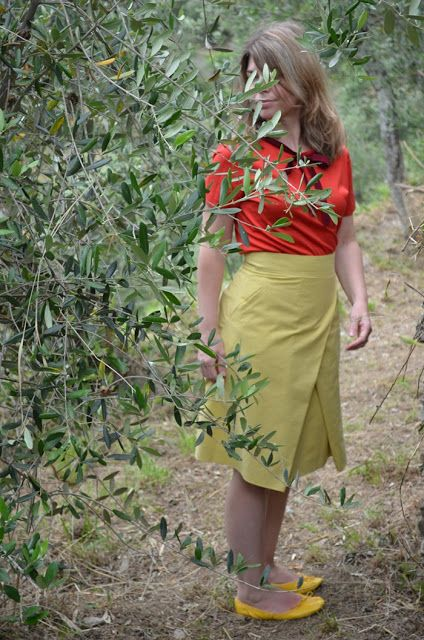 Color block: giallo e rosso   summer outfit #colorblock #summeroutfit