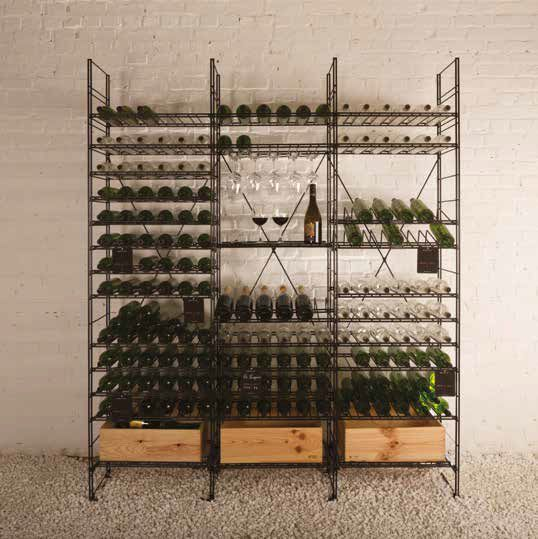 awesome casiers vin casiers mtalliques stockage vin with rayonnages mtalliques leroy merlin. Black Bedroom Furniture Sets. Home Design Ideas