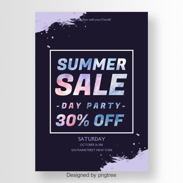 Cool And Cool Poster With Bright Summer Sale Fonts Seni