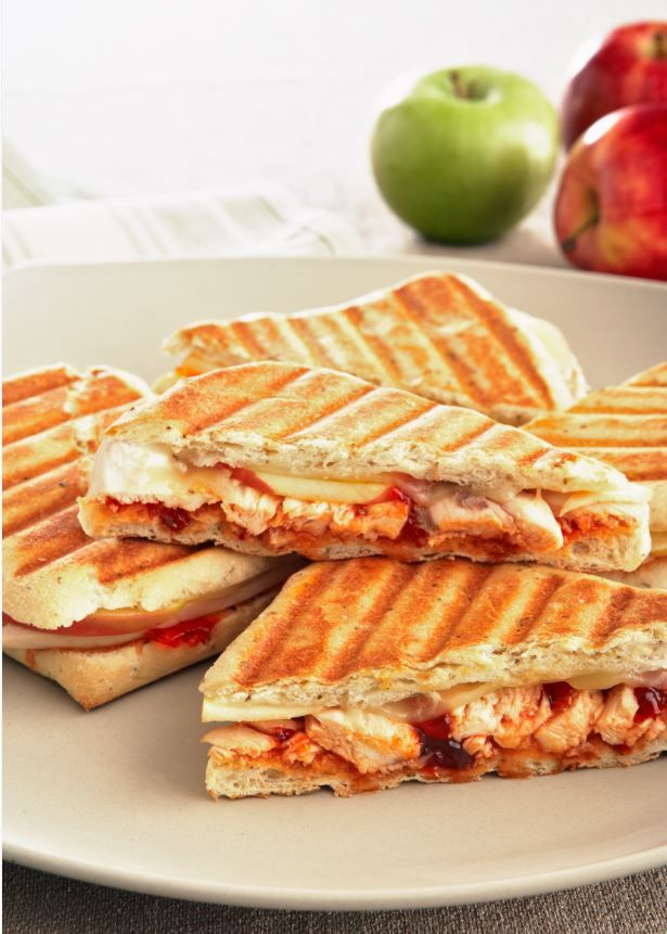 Grilled Chicken and Apple Sandwiches