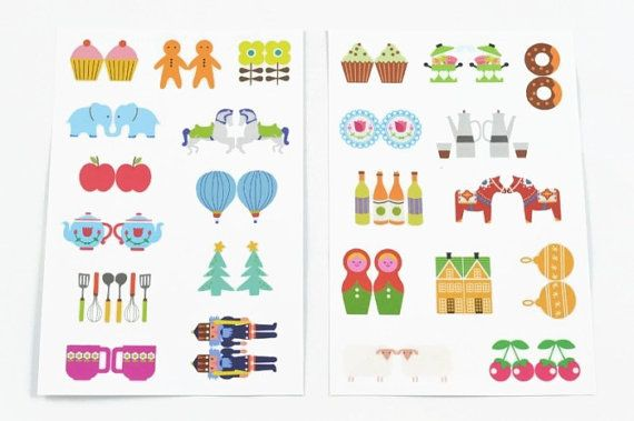 Index Label Sticker Sheet Set (9cm x 13.3cm) by lightandco, $4.00