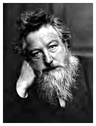 William Morris was a leading member of the Arts and Crafts Movement. He is best known for his pattern designs, particularly on fabrics and wallpapers. His vision in linking art to industry by applying the values of fine art to the production of commercial design was a key stage in the evolution of design as we know it today.